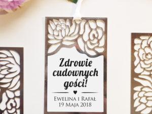Eleganckie srebrne zawieszki ślubne z motywem kwiatów w stylu glamour