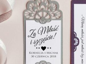 Zawieszki na alkohol ażurowe weselne romantyczne, rustykalne