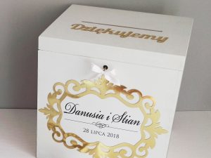 Eleganckie pudło na koperty glamour