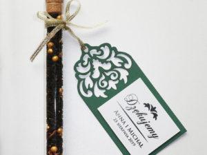 Oryginalne, ażurowe etykietki weselne, zawieszki na podziękowania dla gości