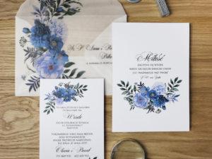 Zaproszenia ślubne pergamin nowoczesne, kwiatowe zaproszenia ślubne z pergaminową kopertą w stylu boho, glamour