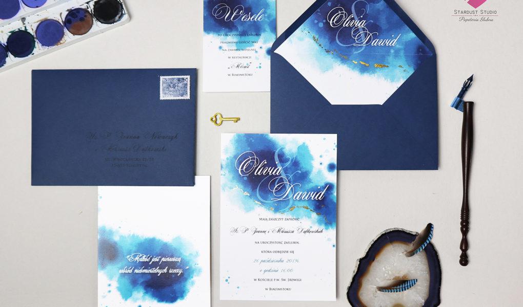 Zaproszenia ślubne akwarele