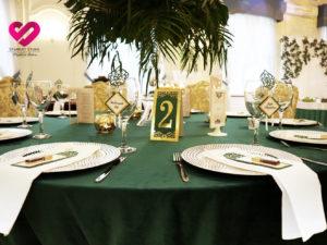Numerki na stoły restauracyjne weselne wycinane laserowowo