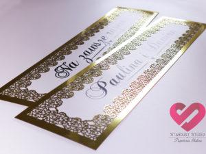 Tablice rejestracyjne ślubne glamour ażurowe