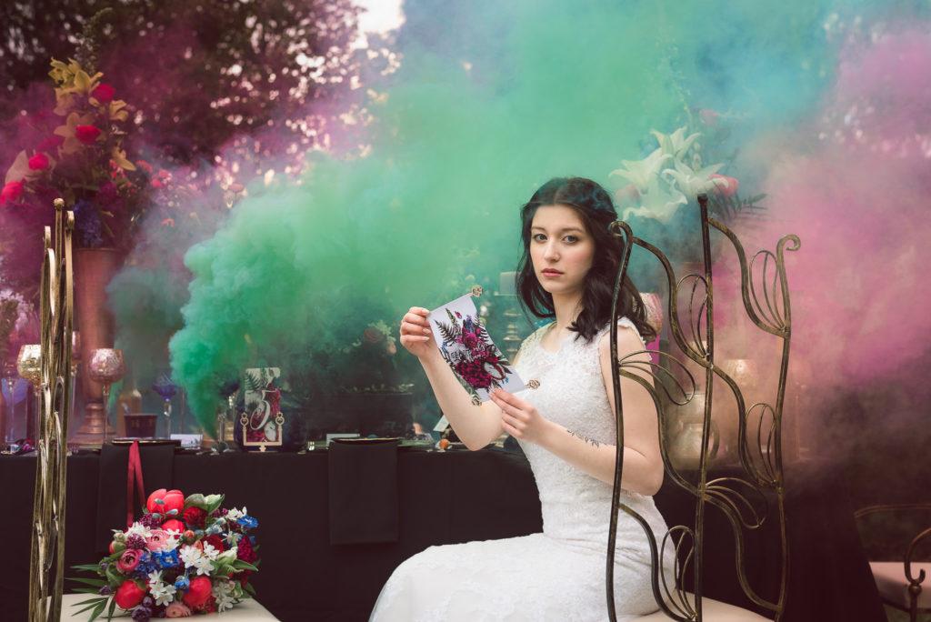 Zaproszenia ślubne Alicja w Krainie Czarów zaproszenia kwiatowe ślub w stylu Alice in Wonderland
