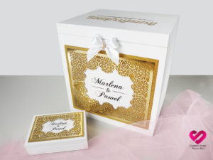pudełko na koperty duże glamour