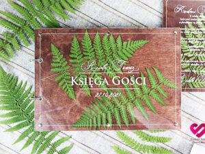 Księga wpisów gości rustykalna naturalne liście