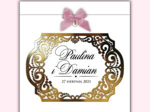 Pudełko na koperty ślubne weselne glamour złoto srebro