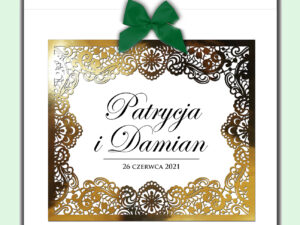 pudełko na koperty weselne pudełko na karty weselne glamour