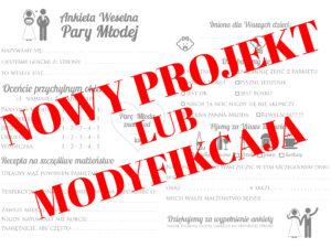 Ankieta weselna nowy projekt Księga gości z ankietami weselnymi