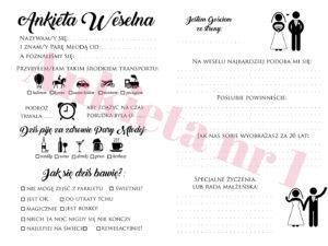 Ankieta weselna