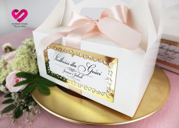 Pudełka na ciasto glamour