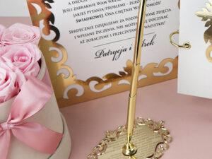 Złoty długopis do księgi gości