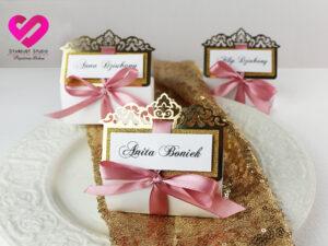 winietki ślubne złote glamour