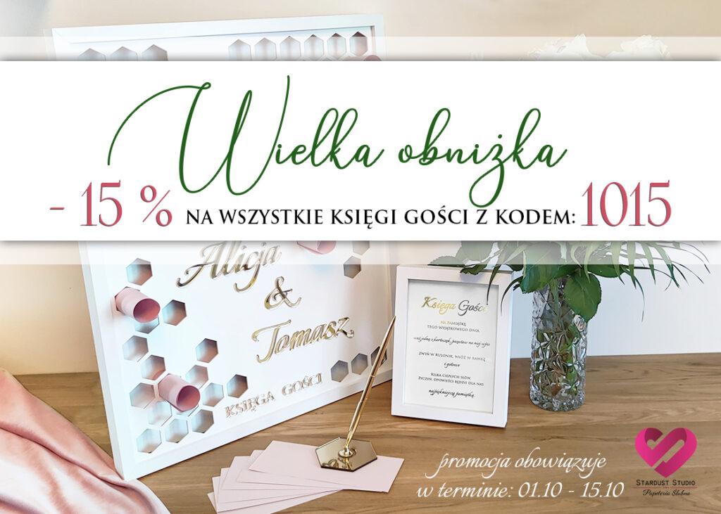 Księga gości weselnych promocja