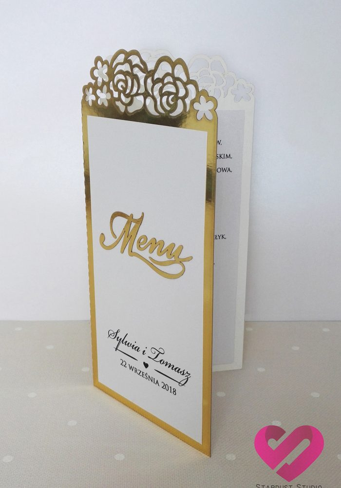 Menu Rose Frame