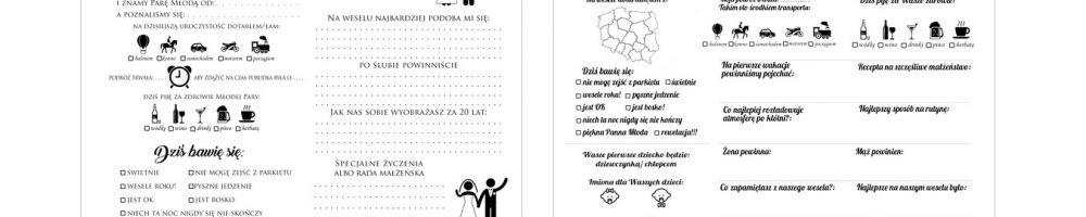 Zabawne ankiety do ślubnej księgi gości